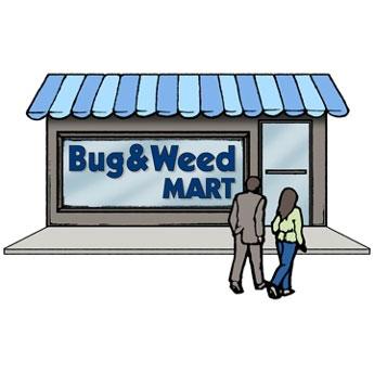 Bug & Weed Mart Logo store